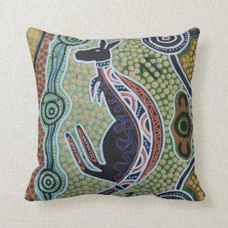 Kangaroo Dreaming Pillow Cushion