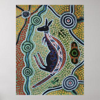 Kangaroo Dreaming Poster