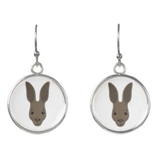 Kangaroo Face Earrings
