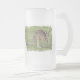 Kangaroo Frosted Beer Mug