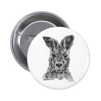 kangaroo gday mate 6 cm round badge