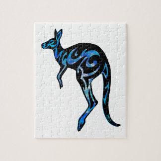 KANGAROO IN BLUE JIGSAW PUZZLES