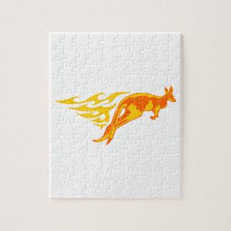 Kangaroo in Flames Jigsaw Puzzle