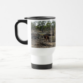 Kangaroo,_In_Outback_Australia_White_Travel_Mug Stainless Steel Travel Mug