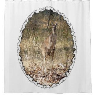 Kangaroo in The Bush Shower Curtain