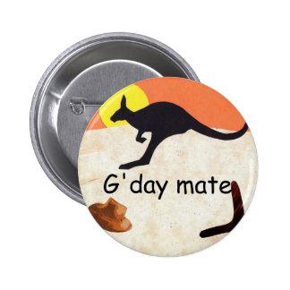 Kangaroo Jillo 6 Cm Round Badge