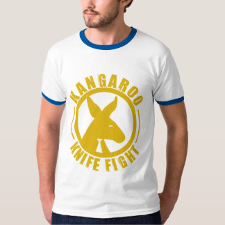 Kangaroo Knife Fight - Logo Mens Shirt Royal Blue