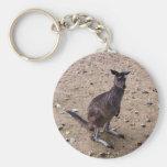 Kangaroo Looking at the Camera Key Chains