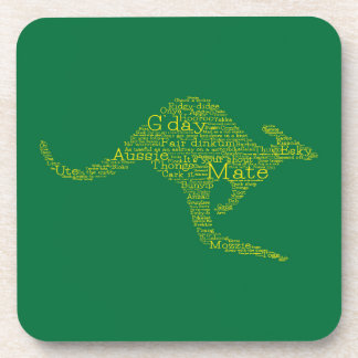 Kangaroo made of Australian slang Coaster