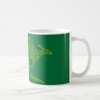 Kangaroo made of Australian slang Coffee Mug