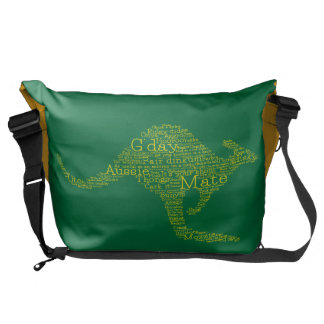 Kangaroo made of Australian slang Courier Bags