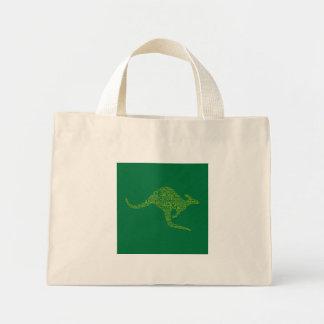 Kangaroo made of Australian slang Mini Tote Bag