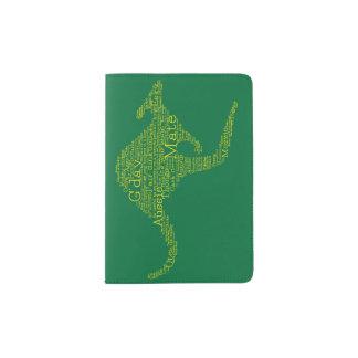 Kangaroo made of Australian slang Passport Holder