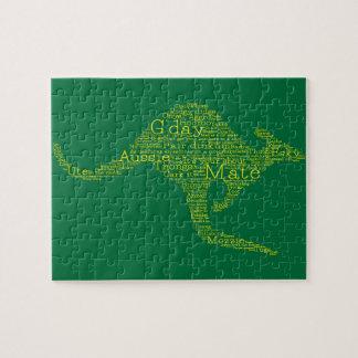 Kangaroo made of Australian slang Puzzles