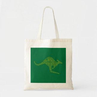 Kangaroo made of Australian slang Tote Bag