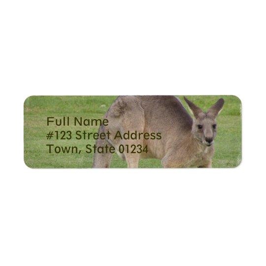 Kangaroo Mailing Label Return Address Label