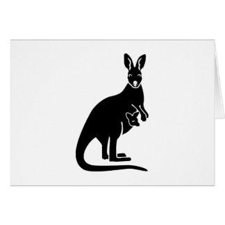 Kangaroo mom baby cards
