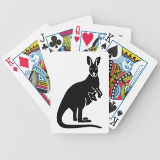 Kangaroo mom baby bicycle playing cards