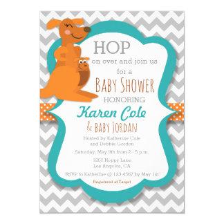 Kangaroo Mommy & Baby - Baby Shower Invitatoin Card