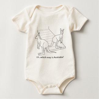 Kangaroo Noah's Ark Australia Baby Bodysuit