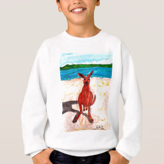 Kangaroo on Beach Sweatshirt