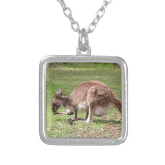 Kangaroo, Outback Australia Silver Plated Necklace