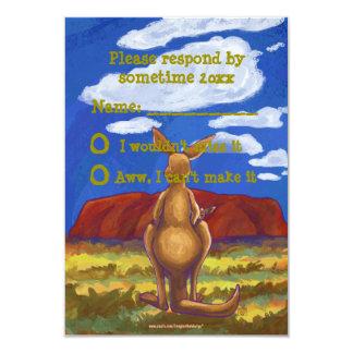 Kangaroo Party Center Card