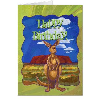 Kangaroo Party Center Greeting Card