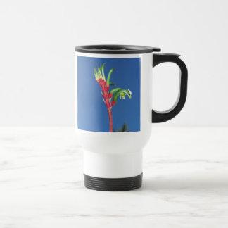 KANGAROO PAW PLANT STAINLESS STEEL TRAVEL MUG