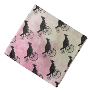 Kangaroo Rider on Bike Bandannas