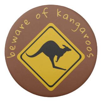 kangaroo road sign - eraser