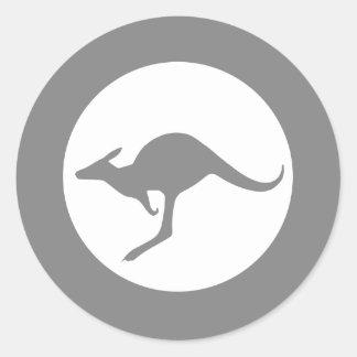 Kangaroo Roundel Subdued Round Sticker