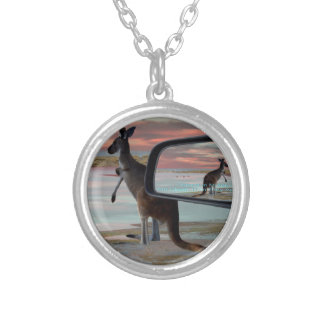 Kangaroo_Sea_Breezes,_ Silver Plated Necklace