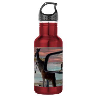 Kangaroo Seaside Breezes Illusion Art, 532 Ml Water Bottle