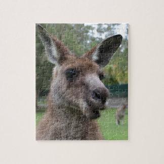 Kangaroo selfie jigsaw puzzle