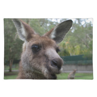 Kangaroo selfie placemat