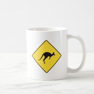 kangaroo sign.ai basic white mug
