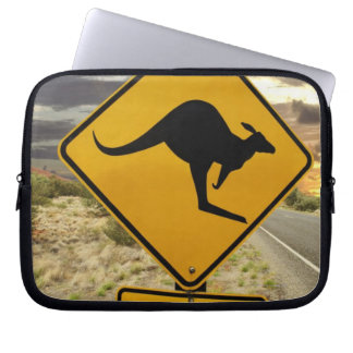 Kangaroo sign, Australia Computer Sleeves