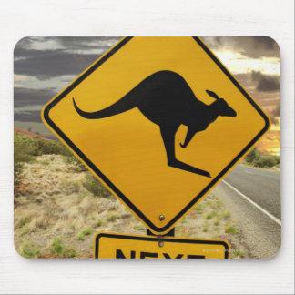 Kangaroo sign, Australia Mouse Pad