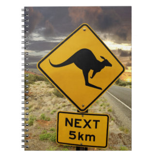Kangaroo sign, Australia Spiral Note Books