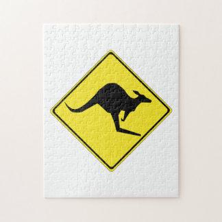 Kangaroo Sign Jigsaw Puzzles