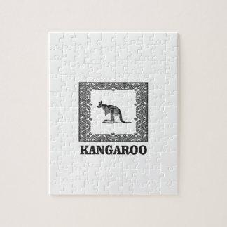 kangaroo squared jigsaw puzzle