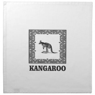 kangaroo squared napkin