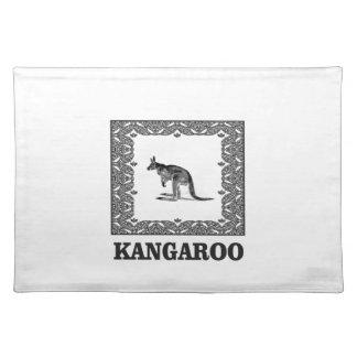 kangaroo squared placemat