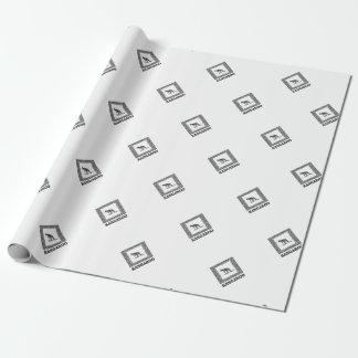 kangaroo squared wrapping paper