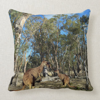 Kangaroo Talk Time, Large Throw Cushion. Cushion
