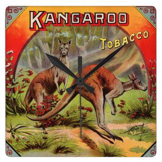 Kangaroo Tobacco Label Art Retro Vintage Kitsch Wall Clock