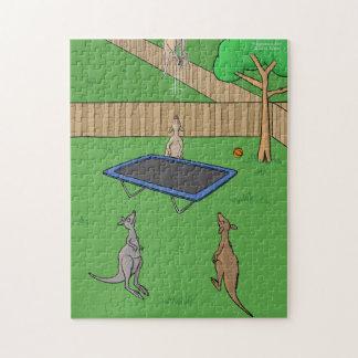Kangaroo Trampoline Bounce Jigsaw Puzzle