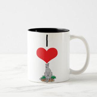 kangaroo Two-Tone coffee mug