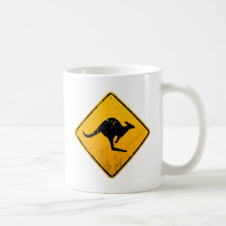 Kangaroo Vintage Sign Mugs